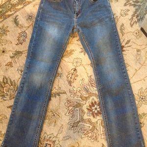 Reba Jeans - REBA EMBELLISHED POCKET DISTRESSED DENIM JEANS